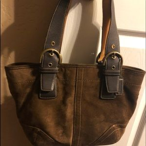 Vintage Coach Suede Purse
